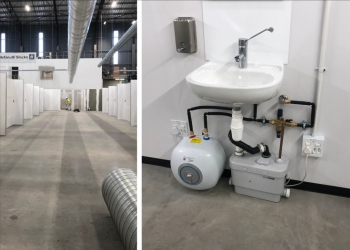 Saniflo Enables Drainage at New COVID-19 Care Facility